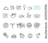 food icon set  vector | Shutterstock .eps vector #635432996