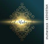 eid mubarak muslim festival... | Shutterstock .eps vector #635435564