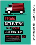 free delivery to your doorstep... | Shutterstock .eps vector #635435648