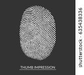white thumb impression on... | Shutterstock .eps vector #635438336