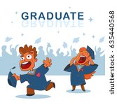 college and university students ... | Shutterstock .eps vector #635440568