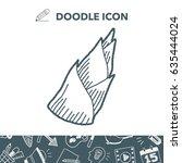 bamboo shoot doodle | Shutterstock .eps vector #635444024