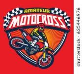 motocross event badge | Shutterstock .eps vector #635446976