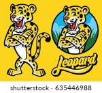 Set Of Cartoon Of Leopard...