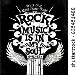 rock music concept print design ... | Shutterstock .eps vector #635451488