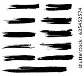 ink vector brush strokes.... | Shutterstock .eps vector #635452574