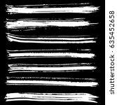 ink vector brush strokes.... | Shutterstock .eps vector #635452658