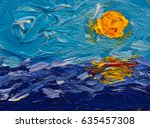 stroke painting seascape ...   Shutterstock . vector #635457308