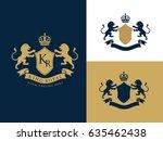 hotel logo  luxury brand... | Shutterstock .eps vector #635462438