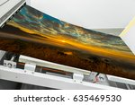 close up of an offset printing... | Shutterstock . vector #635469530