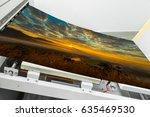 close up of an offset printing... | Shutterstock . vector #635469530