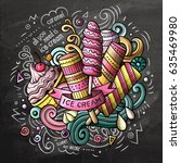 ice cream art cartoon vector... | Shutterstock .eps vector #635469980