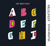 decorative font in a bold comic ... | Shutterstock .eps vector #635470784