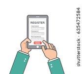 register now membership... | Shutterstock .eps vector #635472584