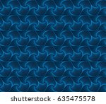 blue abstract geometric... | Shutterstock .eps vector #635475578