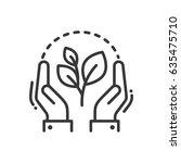 plant of life   modern vector... | Shutterstock .eps vector #635475710
