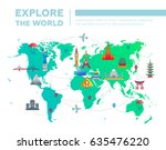 explore the world  ... | Shutterstock .eps vector #635476220