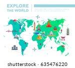 explore the world  ... | Shutterstock .eps vector #635476220