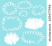 cloud doodle sketch | Shutterstock .eps vector #635477996