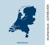 map of netherlands | Shutterstock .eps vector #635481404