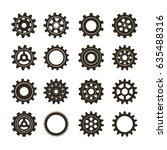 set of gears. vector icon | Shutterstock .eps vector #635488316