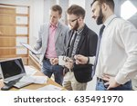 team of young business startups ... | Shutterstock . vector #635491970