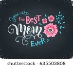 happy mothers day greeting card.... | Shutterstock .eps vector #635503808