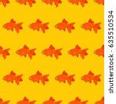 goldfish seamless pattern  ... | Shutterstock .eps vector #635510534