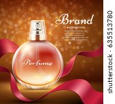 aroma sweet perfume with red... | Shutterstock .eps vector #635513780