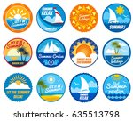 summer party vector labels and... | Shutterstock .eps vector #635513798