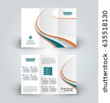 brochure template. business... | Shutterstock .eps vector #635518130