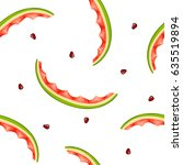 seamless pattern of watermelon... | Shutterstock .eps vector #635519894