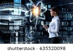 woman scientist making research | Shutterstock . vector #635520098