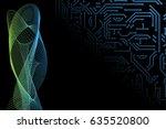 abstract vector hi tech... | Shutterstock .eps vector #635520800