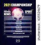 scoreboard. team info manager.... | Shutterstock .eps vector #635524679