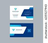 business card design trendy... | Shutterstock .eps vector #635527943