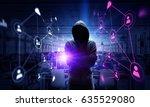 be aware of hacker attack.... | Shutterstock . vector #635529080
