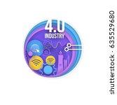 industry 4.0 concept bubbles...   Shutterstock .eps vector #635529680