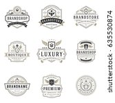 luxury monogram logos templates ... | Shutterstock .eps vector #635530874