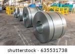 steel coils inside industrial... | Shutterstock . vector #635531738