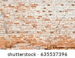 Old Brick Wall For Background....