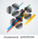 minimalistic creative concept . ... | Shutterstock .eps vector #635539190
