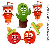 illustration with funny... | Shutterstock .eps vector #635541698