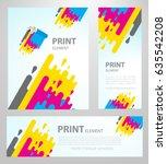 print polygraphy cmyk element.... | Shutterstock .eps vector #635542208