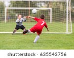 kids soccer football   young... | Shutterstock . vector #635543756