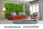 interior living room. 3d... | Shutterstock . vector #635543900