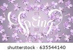 soft pastel color floral 3d... | Shutterstock .eps vector #635544140