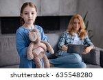 sad little child waiting for...   Shutterstock . vector #635548280