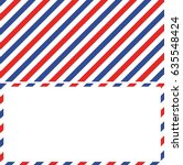 air mail background and frame... | Shutterstock .eps vector #635548424