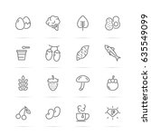 superfood vector line icons ... | Shutterstock .eps vector #635549099